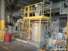Sweco filter assembly, mounted on steel support frame and includes stainless recovery tank with