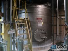 316 stainless steel dimple jacketed mixing tank with Lightning agitator, 5,000 Gal., stainless steel