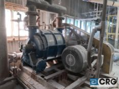 Nash CL 3002 stainless steel clad vacuum pump with 125 HP drive (Lime Kiln Lower Level)