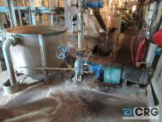 Warren ss centrifugal pump set with connecting ss surge tank (Elev 542 Pulp Mill)