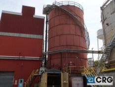 35,755 cu.ft. capacity 36' dia. X 56' bolted steel chip silo with internal rotary reclaim sweep