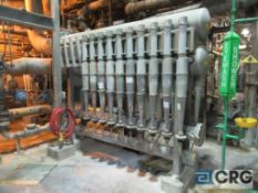 Clean set, 10 position with associated pipework and flow controls (adjacent to PM-3)