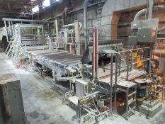 """PM-3 20,000 tons per year, 71"""" max. reel width, 87"""" wire width, 985 RPM max. reel speed, 35-135"""