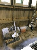 Goulds 1 X 2 centrifugal pump with 30 HP drive (Lime Kiln Lower Level)