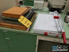 Lot of (5) paper cutters, assorted sizes and types (Office Lab)