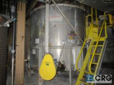 """Lot of (3) CB Raw Emulsion stainless storage tanks, each 6875 gal cap, 116"""" high, side bottom"""