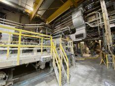 """PM-2 49,000 Tons per year, 115.5"""" max. reel width, 132"""" wire width, 1,850 RPM max. reel speed, 30-55"""