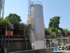 30,000 Gallon 316ss bulk storage tank, 12 ft dia x approx 36' high, single wall construction with
