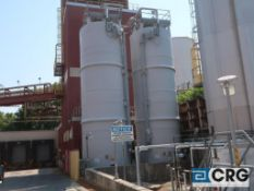 32,000 Gallon FRP storage tank, mfg by Belco and installed in 2020, 12 ft dia x approx 36 ft high,