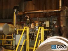 Roots steam turbine drive centrifugal compressor with Bentley Nevada PLC controls (Elev 530 Pulp