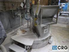 Kady 500B stainless steel hot water jacketed bottom entry production mill with 200 HP drive (Elev.