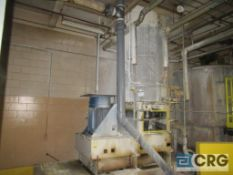 ABBE stainless steel jacketed mixing tank, 56 in. dia. X 88 in. H with bottom shear mixing blade,