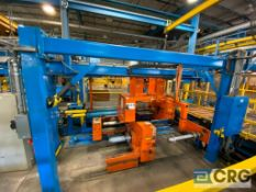Automatic Handling Inc. end of line auto film roll handling, wrapping and palletizing system,