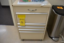 Lot - (2) Rolling Cabinets with Contents