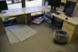 L-Shaped Pedestal Desk