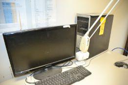 Dell Precision T3500 Computer with (4) Monitors