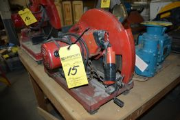 """Milwaukee 14"""" Abrasive Cut Off Saw (As Is)"""