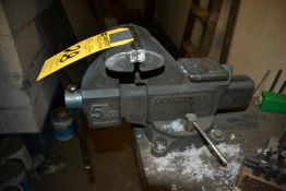 """5 1/2"""" Swivel Bench Vise with Work Bench"""