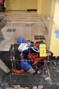Lot - Assorted Used Boxing Gloves and Cage