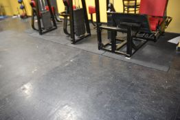 Lot - Rubber Flooring (Approximately 500 sq. ft.)