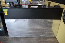 6' Front Formica / Diamond Plate Counter