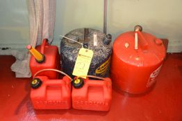 Lot - Assorted Gas Cans
