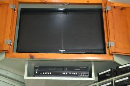 Lot - Hisense Television & Magnavox VHS Dual Recorder
