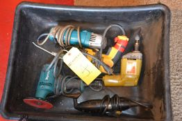 Assorted Electric Hand Tools