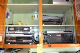 Lot - Assorted Electronics (Dual Cassette Recorder, DVD Player, Harman/Kardon Receiver, Sony Control