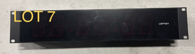 Leitch Timing Clock Red, M: DTD525R, SN: 9735978