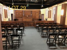 Court Rooom Television/Film Set