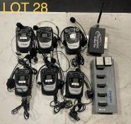 Tempest 900 Clear Com with battery charging unit and antenna, M: TMR42509INCC, SN: 2401310,