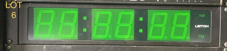 Leitch Timing Clock Green, SN: 9937468
