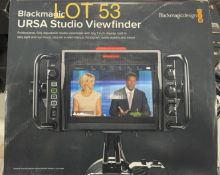 2019 Blackmagic Studio Viewfinder, M: URSA, SN: 5606690