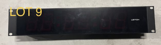 Leitch Timing Clock Red, M: DTD525R, SN: 159552