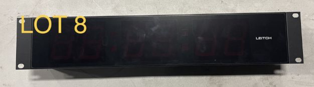 Leitch Timing Clock Red, M: DTD525R, SN: 360214