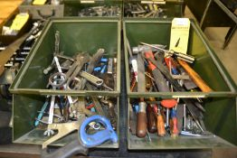 LOT - Hand Tools in (2) Bins (No Bins Included)