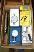 Assorted Dial Gages, Levelers, Etc.