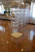 (36) Clear Plastic Stack Chairs