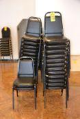 (40) Black Vinyl & Metal Stack Chairs