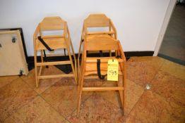 (3) Wood High Chairs