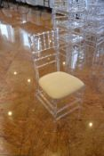 (50) Clear Plastic Stack Chairs