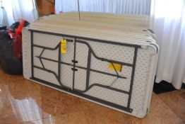 (6) 6' Plastic Folding Tables