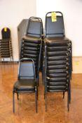 (46) Black Vinyl & Metal Stack Chairs