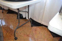 (4) 6' Plastic Folding Tables - Rolling