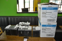 Lot - (7) Napkin Dispensers & (2) Boxes of Supplies