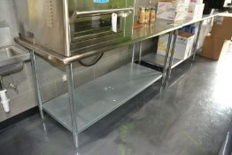 """Stainless Steel Table, 30"""" x 72"""""""