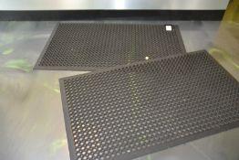 "Heavy Duty Rubber Floor Matts, 37"" x 61"""