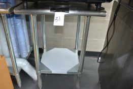 """Stainless Steel Table, 24"""" x 24"""""""