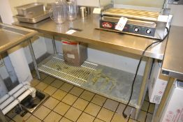 """Stainless Steel Table, 24"""" x 60"""""""